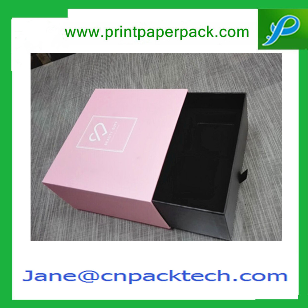 Custom Lid Drawer-type Boxes with tray Gift Packaging Box Fancy Paper Gift Color Box