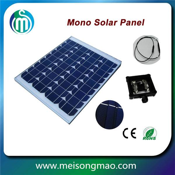 China manufacturer 100W mono solar panel for home solar system 18V pv module