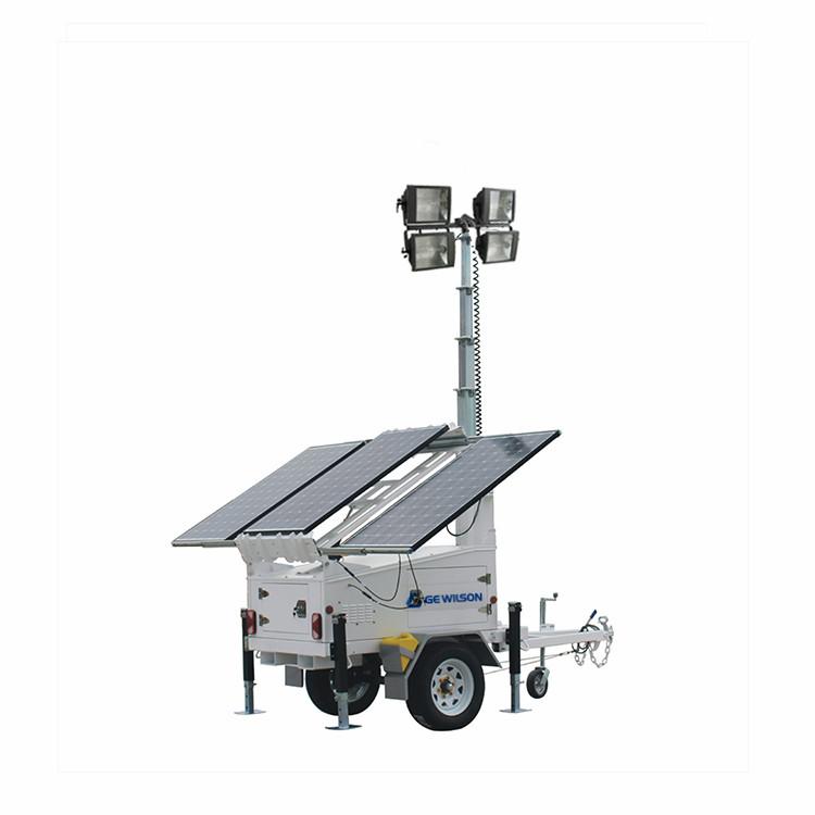 manual lift 6.5m 4x1000w metal halide solar light tower