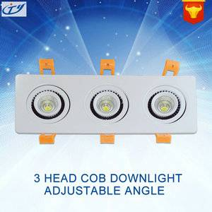 15W 3 Head COB Downlight - Adjustable Angle