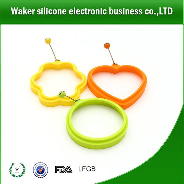 Multi shapes food grade silicone egg frying ring