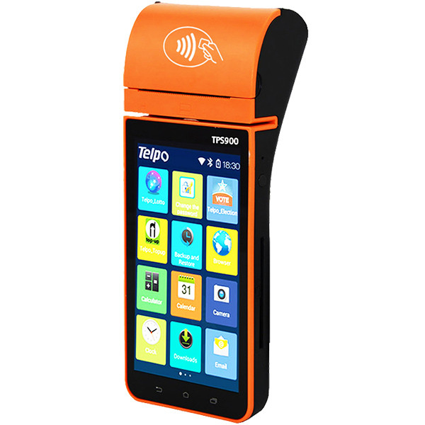 Mobile Android POS TERMINAL With Printer Barcode scanner TPS900
