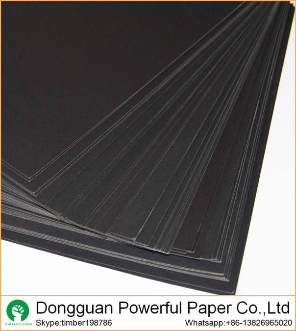hot selling 250g 300g 350g black kraft paper