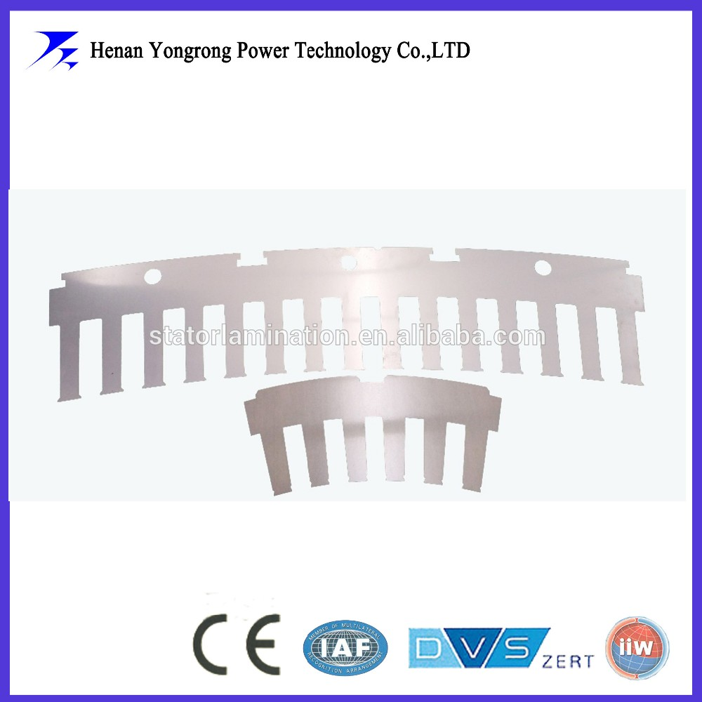 IE3 Permanent magnet electric motor stator and rotor segment lamination