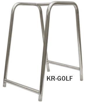 stainless sigle bag golf bag rack