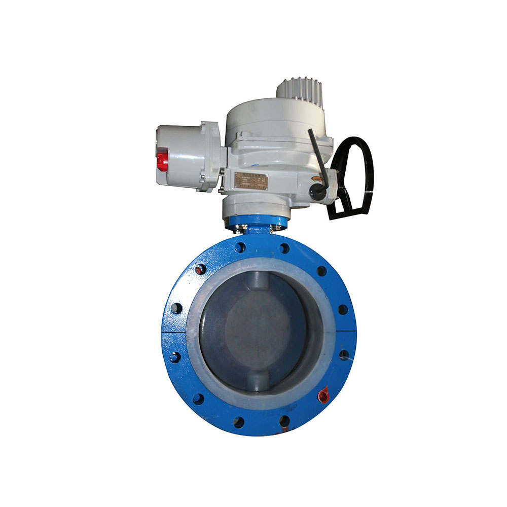 Electric flanged soft sealing butterfly valve