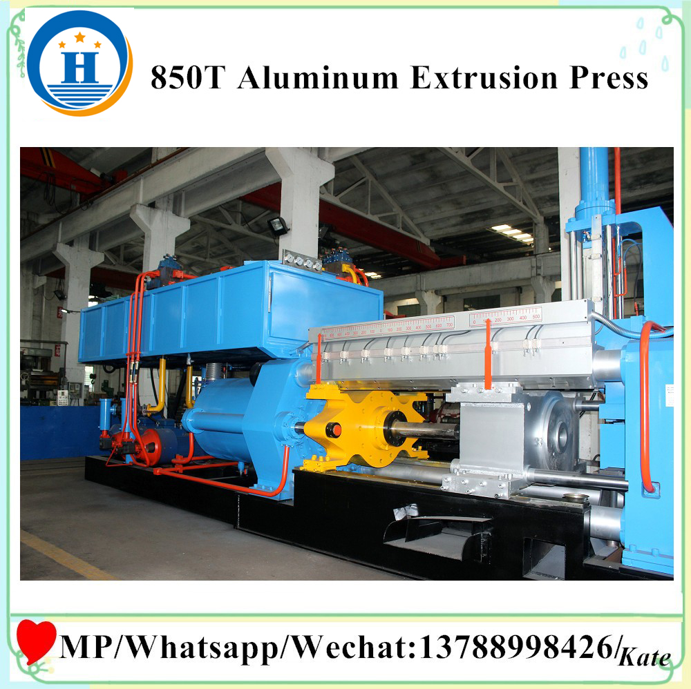 Aluminum extrusion machine press