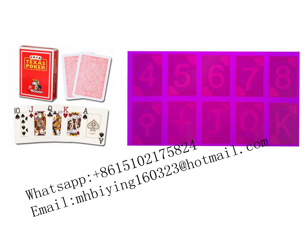Red Modiano Texas Hold'em plastic marked cards/uv contact lenses/uv ink/gambling cheat/cards cheat