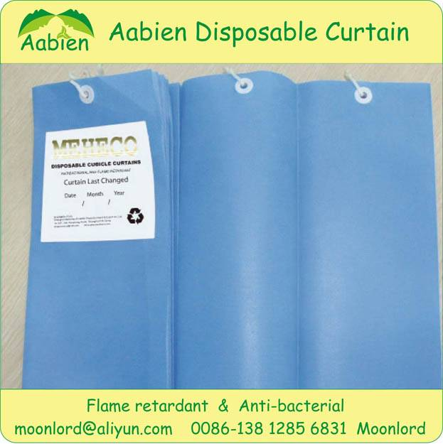 Medical curtain with disposable and antibacterial