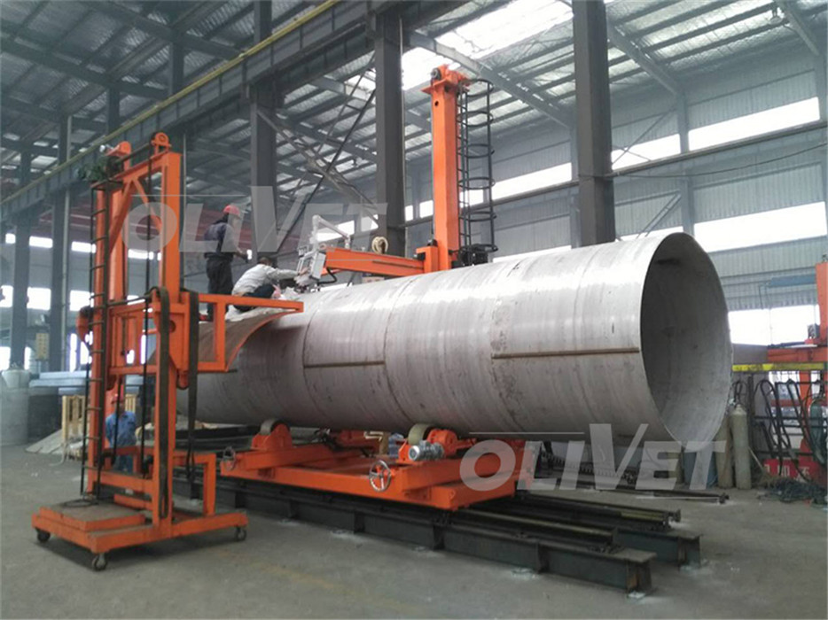 Stainless steel tank fit-up plasma welding centerstainless steel tank welding hot sale