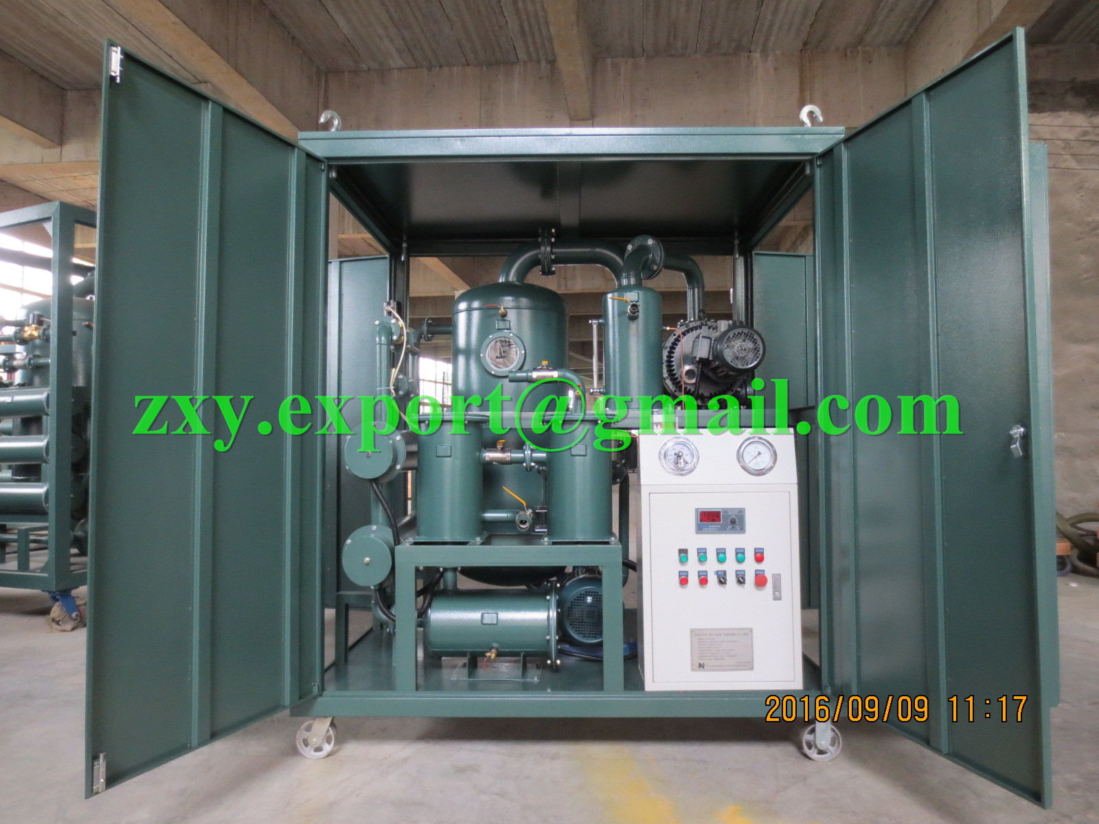 DOUBLE-STAGE high vacuum Transformer Oil Filtering, Dielectric Oil Purifying Plant