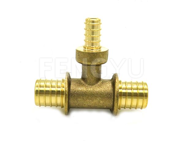 Brass reduced pex tee P140X