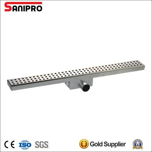 Smart stainless steel shower linear floor electro polish drain