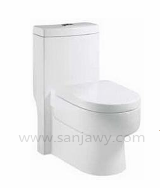 Popular bathroom ceramic one piece floor mounted wc toilets luxurious design center