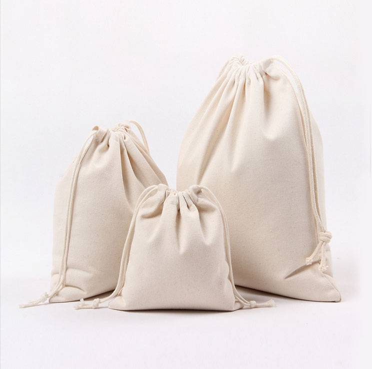 Muslin Bag/ Cotton Pouch/ Wedding Bag/ Gift Bag/ Small Drawstring Bag