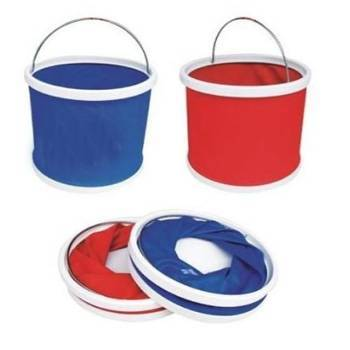 Folding plastic bucket