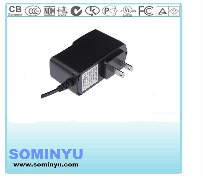 DOE VI Level 6 12V 0.5A switching USA power adapter