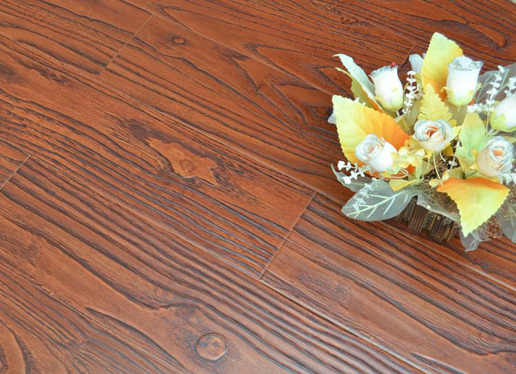 8mm Synchronized surface Laminate Flooring V-Groove Painting