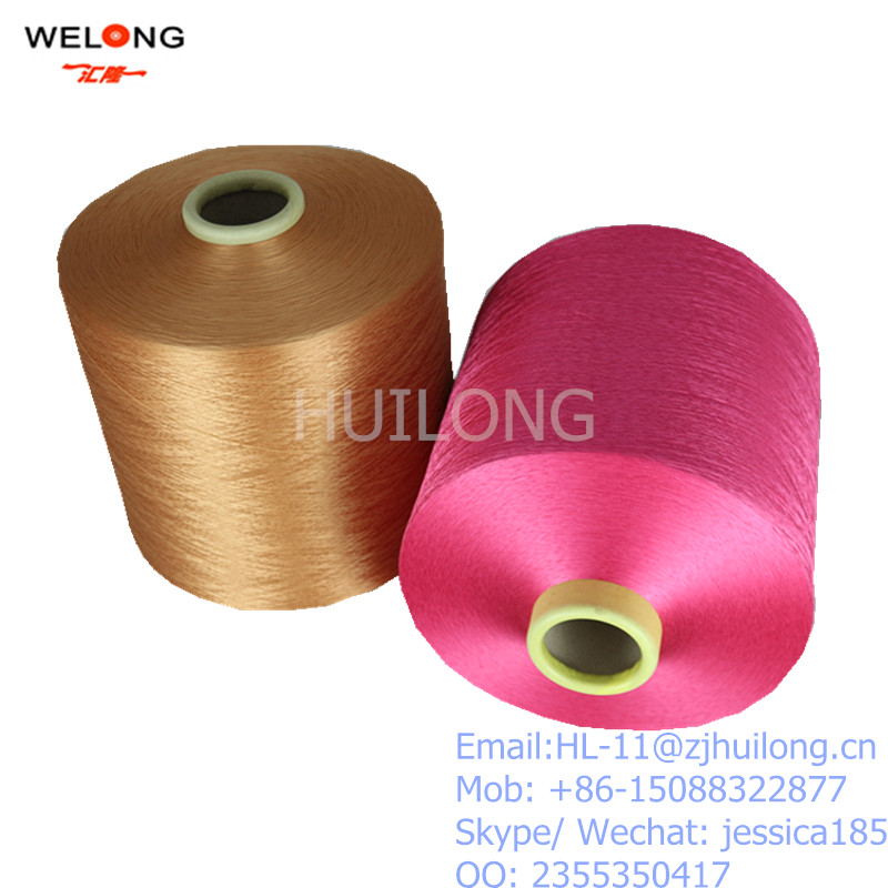 100% colourful polyester yarn DTY