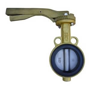 Aluminum wafer butterfly valve