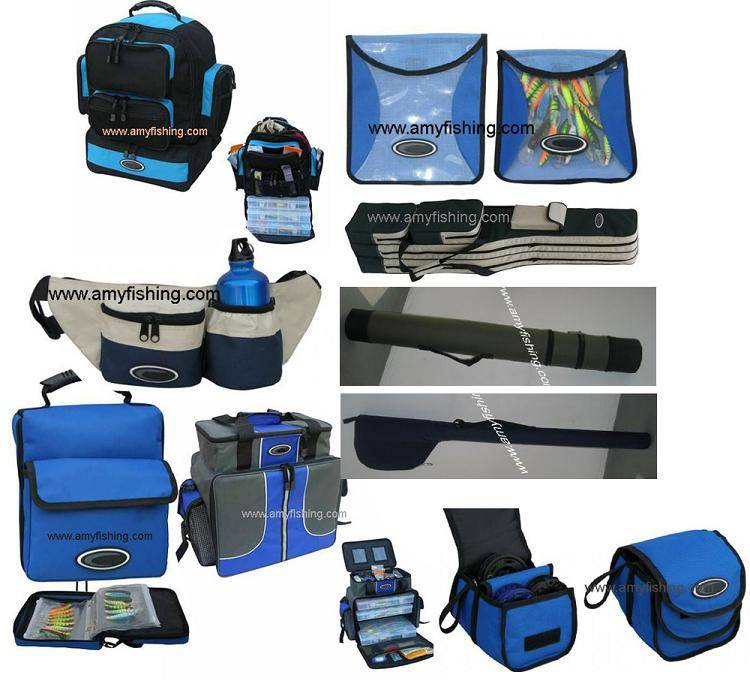 fishing bags, rod's bag, reels' bag, fishing basket