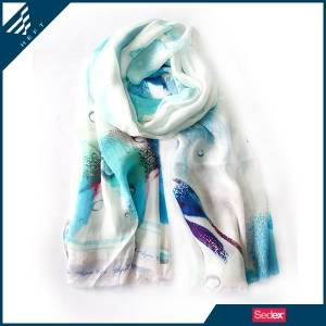 HEFT Cool modal and spun scarf with refreshing prints