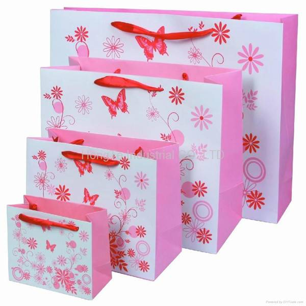 cheap price of shopping paper bags wholesale
