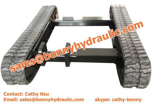 custom built rubber crawler undercarriage