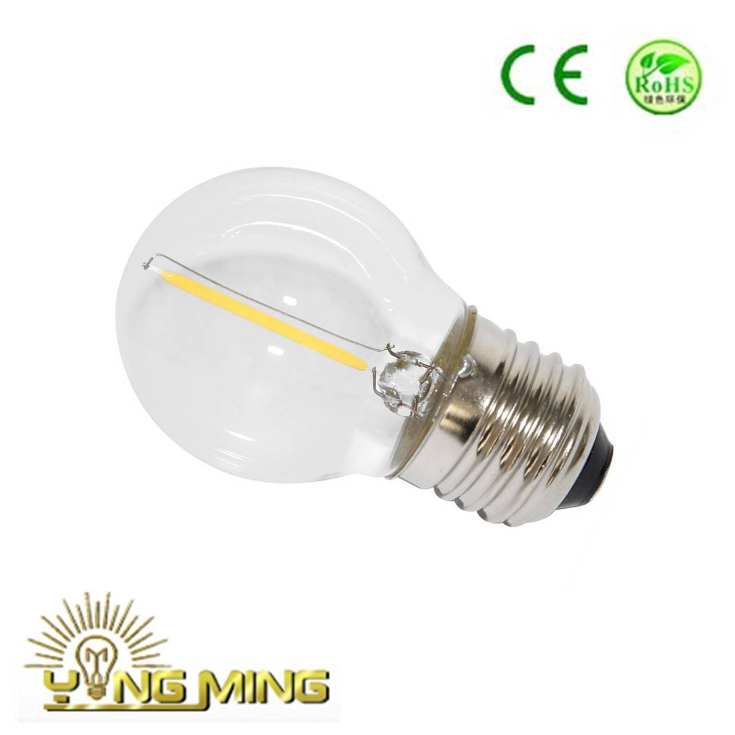 Round Shape G45 LED Filament Bulb