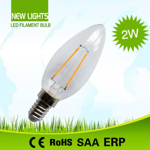 Hot selling made in china high quality c35 led filament bulb