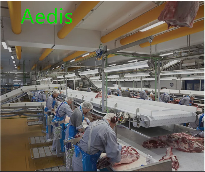 Fabric duct accepted by Meat plant of Mexico.