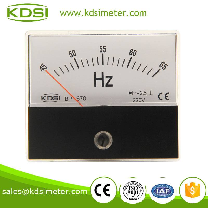 20 Year Top Manufacturer of CE,ISO passed BP-670 45-65HZ 220V ac frequency meter