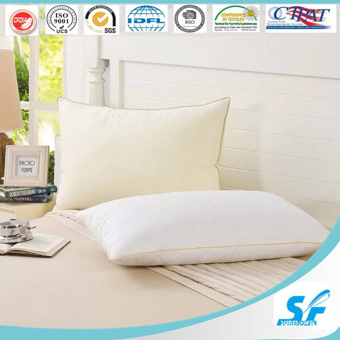 Supermarket white comfortable feel body down and feather pillow