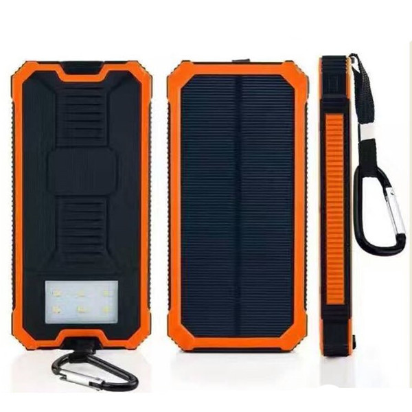 Solar power bank 10000mAh 2A input