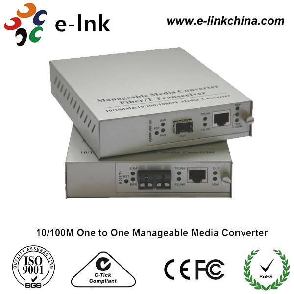 10/100M & 10/100/1000M One to One Manageable Media Converter