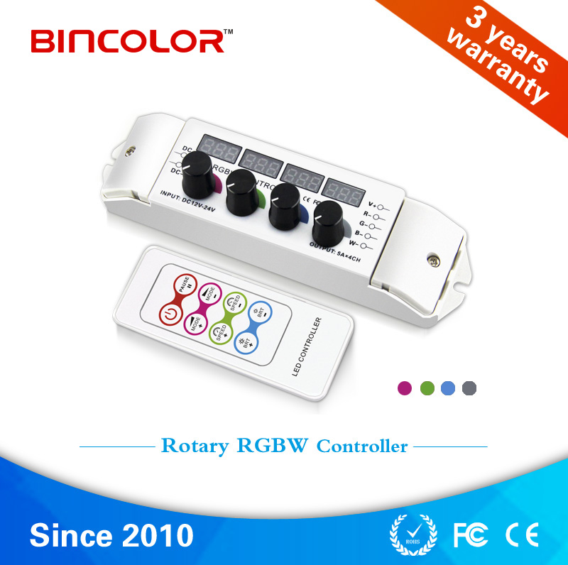 BC-354 Wholesale DC 12V 24V digital display RGBW led strip controller with RF remote control