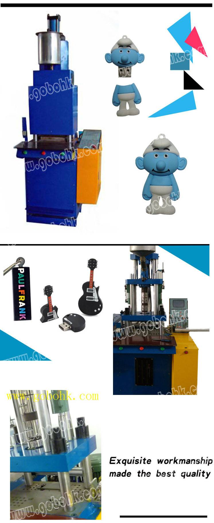 injection moulding machine for pvc mobile pen driver