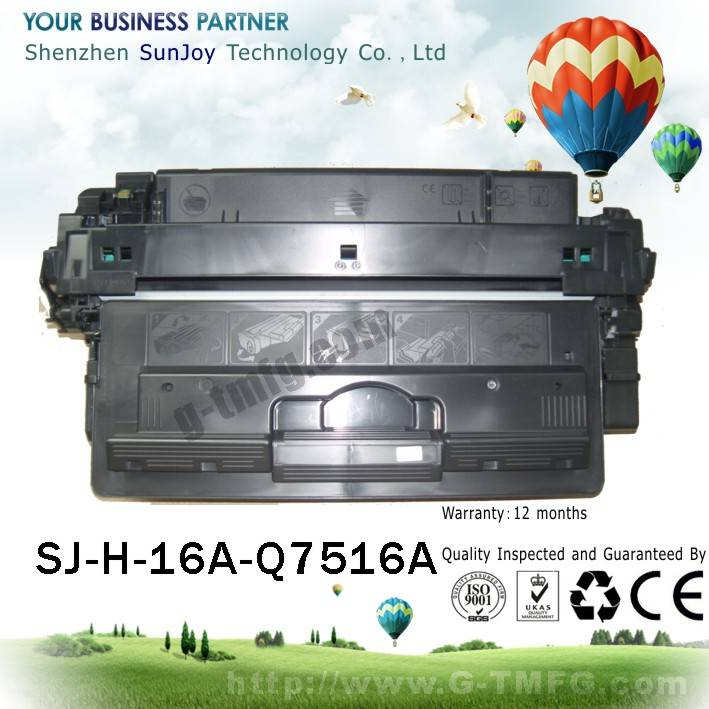 Sunjoy 16A toner cartridge Q7516A compatible for HP Laserjet 5200 5200LE
