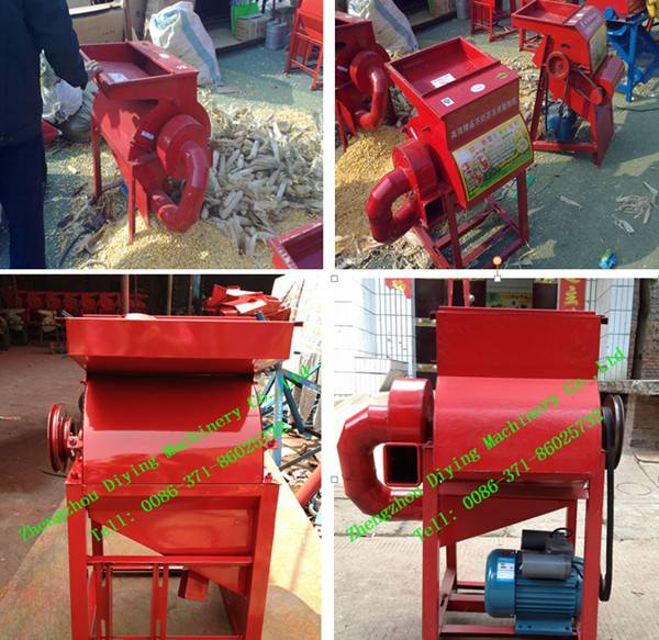 Electric or diesel Corn peeler and thresher machine/maize peeling machine