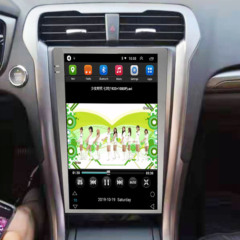 Vertical Screen 12.1 Inch Android Car Multimedia Navigation For Ford Mondeo 2013-2017