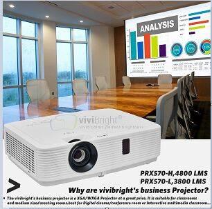 PRX570 1024*768P,4800 Lumens simnplebeamer professional projector