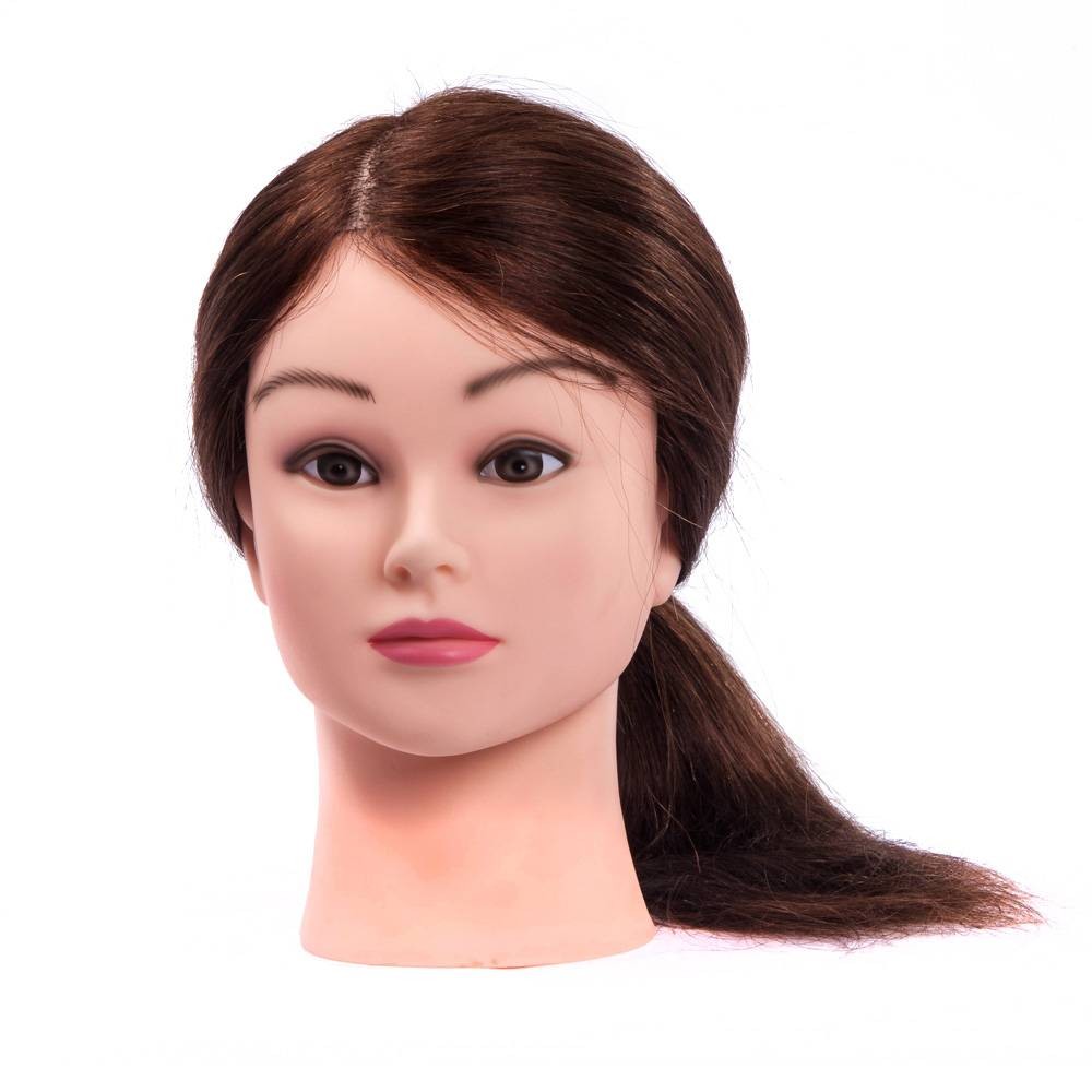 100 human hair hairdressing practice training mannequin head