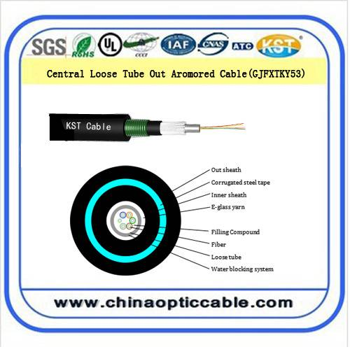 Central loose tube out armored cable (GJFXTKY53 )