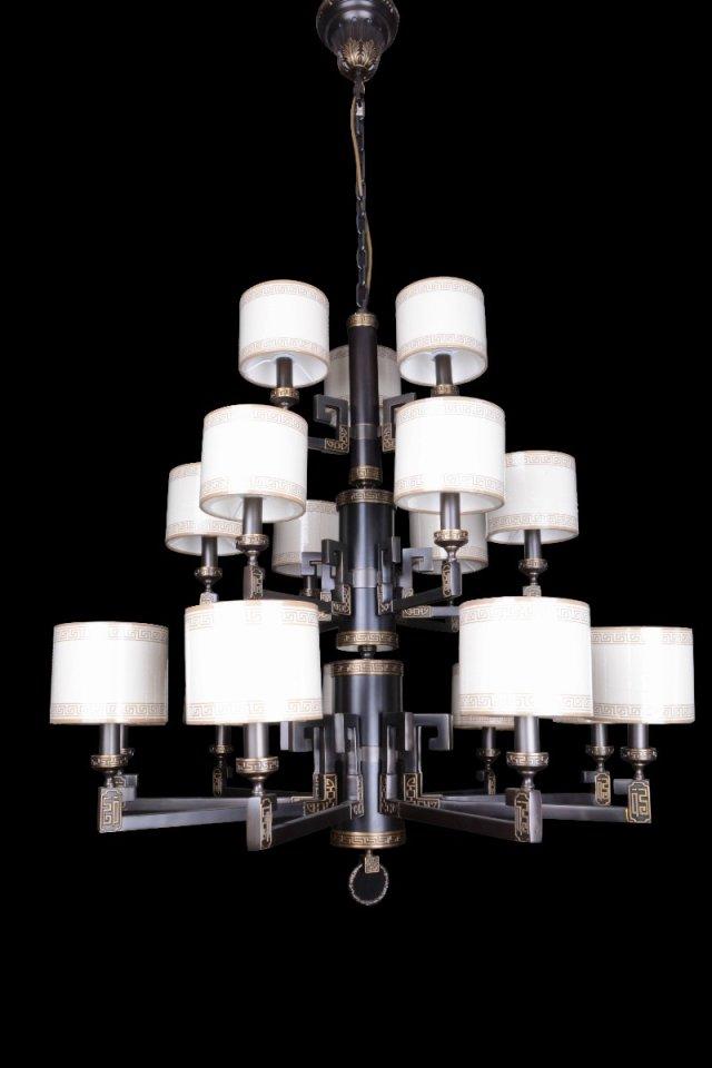 copper zinc alloy chandelier
