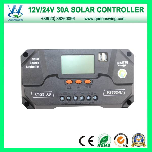 CE RoHS Solar Charge Controller 30A Controllers (QWP-VS3024U)
