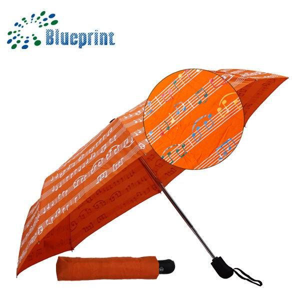 water color changing 3 folding umbrella