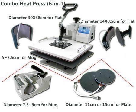 CE 6-1 Digital combo heat press machine 29*38cm