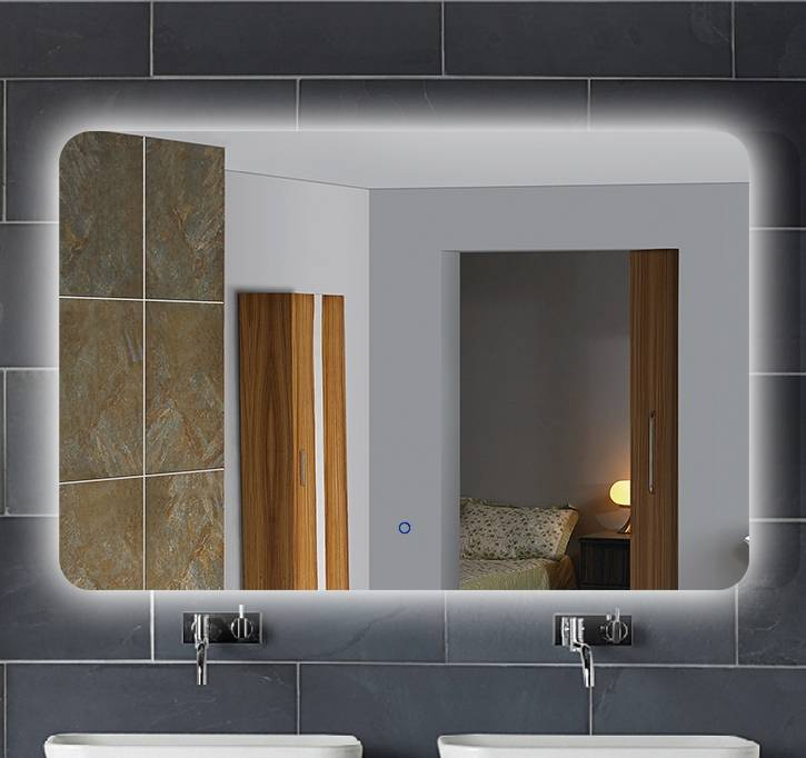 Bathroom smart touch screen mirror