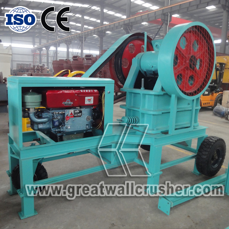 diesel jaw crusher for sale in 15 t/h crushing plant