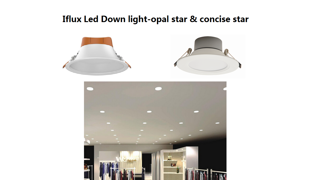 Iflux Led Down light-opal star & concise star
